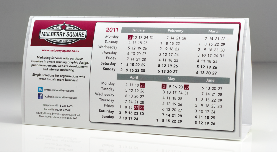 Our popular desktop calendars are one of the most effective ways of keeping your name in front of your customers all year round.  sc 1 st  The GB Group & 2016 Personalised Desktop Tent Calendars from £139.00 | The GB Group